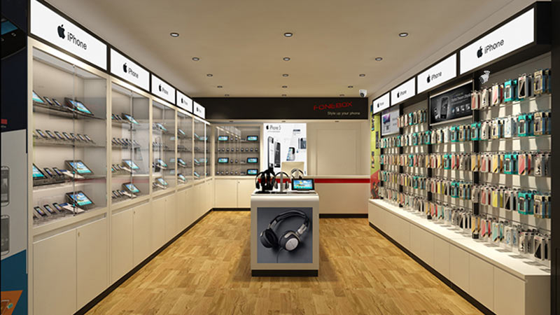 Thi công camera cho cửa hàng phụ kiện điện thoại