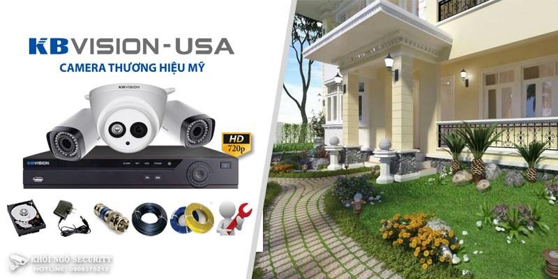 Thi công bộ camera KBVision gia đình (trọn gói lắp đặt tại HCM)