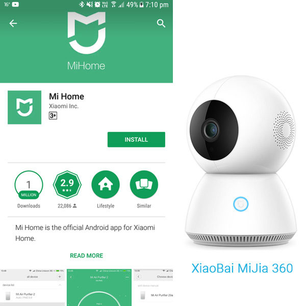 Camera-Wifi-Mijia-XiaoBai-PTZ-360-Full-HD-1080p-Xiaomi