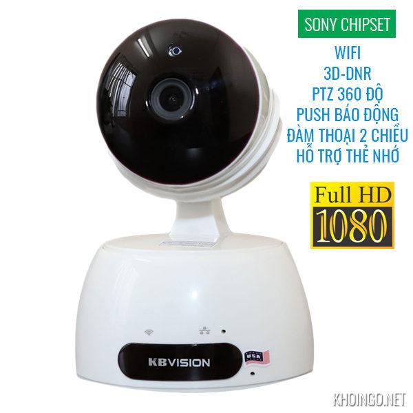 Camera IP Wifi KBWIN KW-H2 Full HD 2MP 3D-DNR PTZ - SONY Chipset