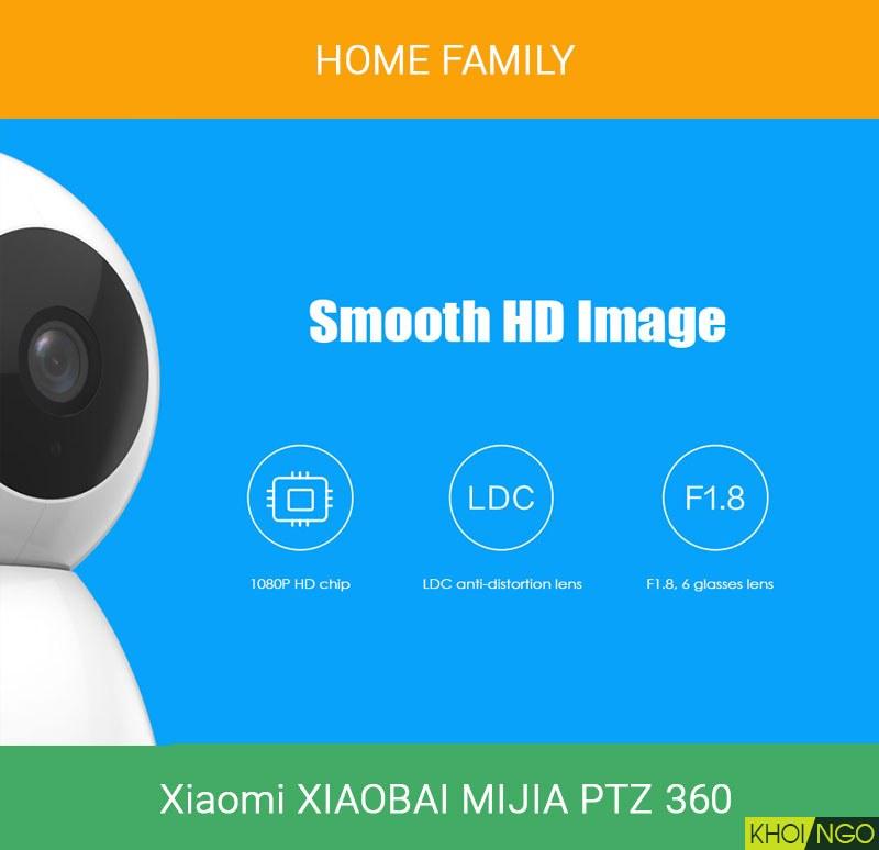 Camera ip wifi cho cửa hàng Xiaomi Xiaobai Mijia 360 PTZ 1920x1080p