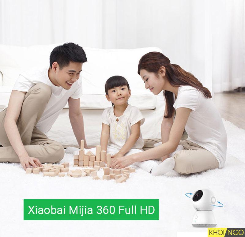 Camera khong day gia dinh cao cap Xiaobai MIJIA 360 PTZ Full HD Xiaomi wifi Khoi Ngo Khoingo.net
