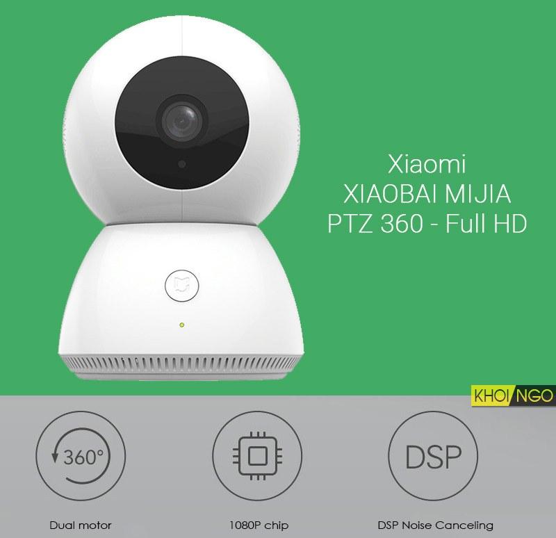 Camera wifi cho văn phòng Xiaomi Xiaobai Mijia PTZ 360 Full HD 1080p