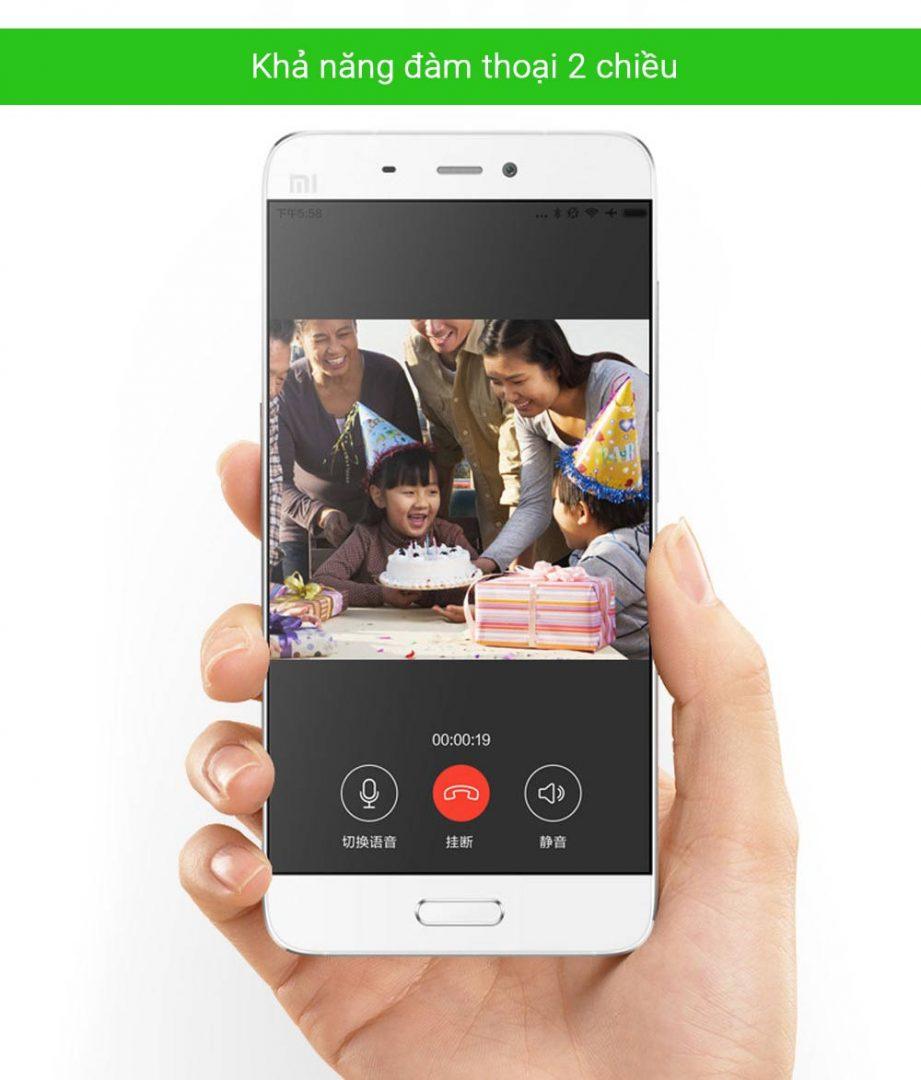 Phan mem xem camera Xiaomi Xiaobai Mijia Robot xoay 360 do Full HD tren dien thoai