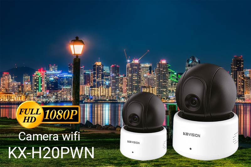 Camera wifi KBVision KX-H20PWN Full HD cho gia đình văn phòng shop