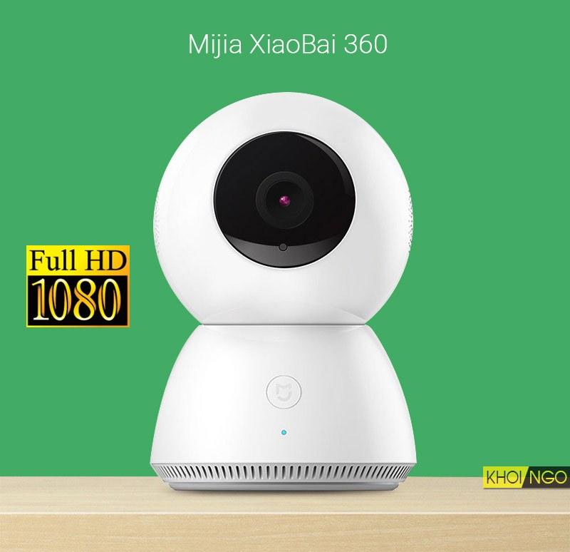 Camera wifi không dây Xiaomi MIJIA XIAOBAI Full HD 360 cho gia đình