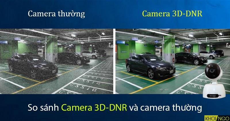 So sanh camera ip wifi KBWIN KW-H1 tinh nang chong nhieu 3D-DNR so voi camera thong thuong