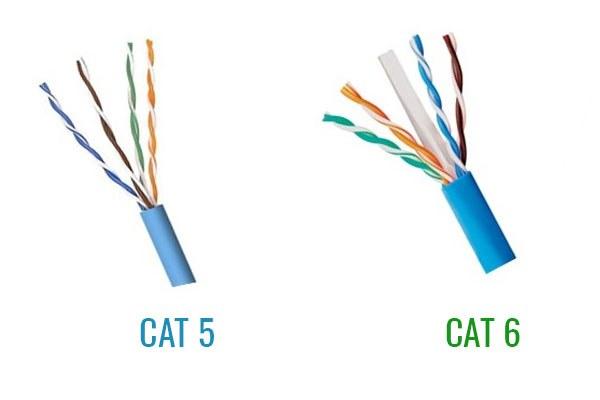 So sánh tiêu chuẩn cáp mạng CAT5 và CAT 6 cho camera IP