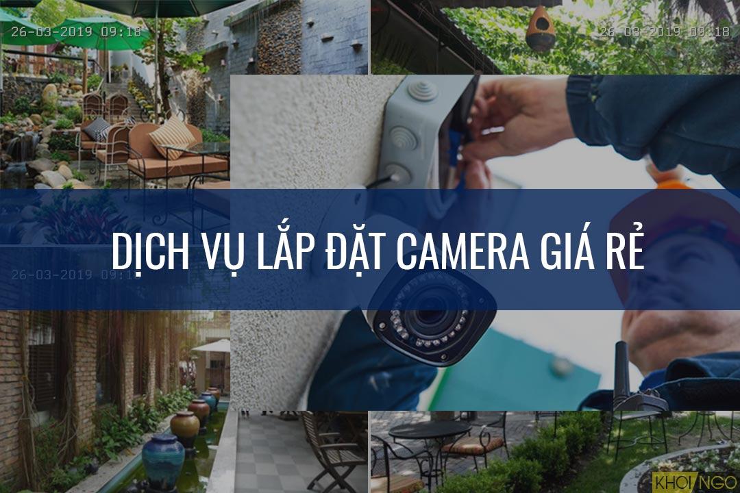 Lắp đặt camera giá rẻ trọn gói tại TPHCM