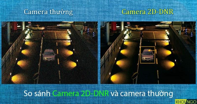 So sánh Camera KX-1011N công nghệ 2D-DNR và camera thường