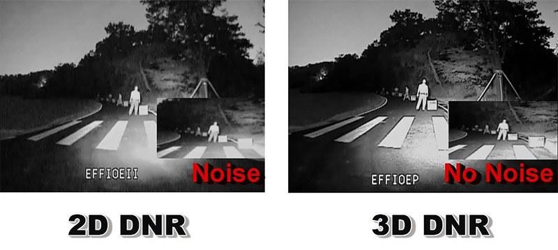 So sánh giảm nhiễu 2D DNR và 3D DNR ảnh hồng ngoại