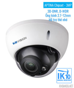 Camera IP KBVision KX-3004AN 3D-DNR D-WDR IK10 - APTINA Chipset
