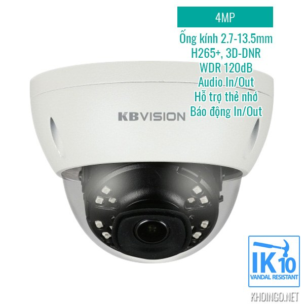 Tinh nang ky thuat Camera IP KBVision KX-4002iAN 4MP