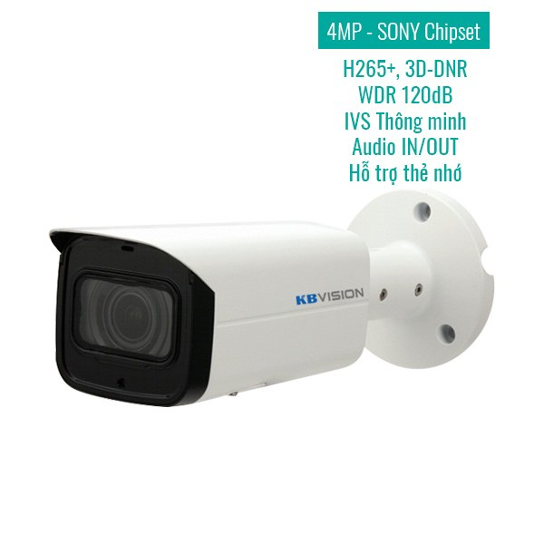 Thong so ky thuat Camera IP KBVision KX-4003iN 4MP (Specs)