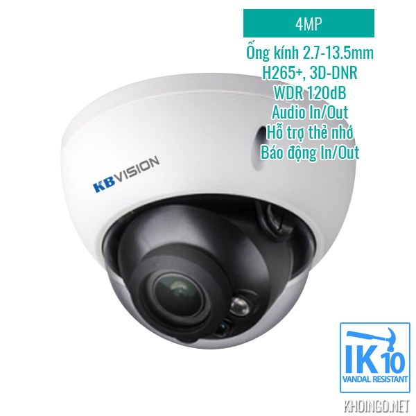 Tinh nang ky thuat camera IP KBVision KX-4004iMN 4MP