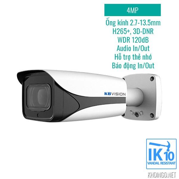 Tinh nang ky thuat Camera IP KBVision KX-4005iMN 4MP