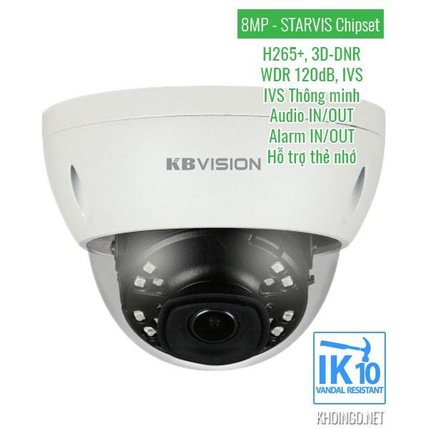 Thông số kỹ thuật Camera IP KBVision KX-8002iN 8MP