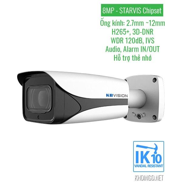 Thông số kỹ thuật Camera IP KBVision KX-8005iMN 8MP (4K)