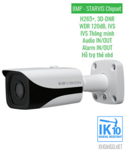 Camera IP KBVision 8005iN 8.0 Megapixel
