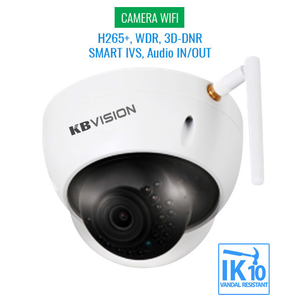 Camera-IP-WIFI-KBVision-KX-2012WAN-Full-HD-2MP-H265+-WDR-3D-DNR-IVS-Audio-In-Out-SONY-Chipset