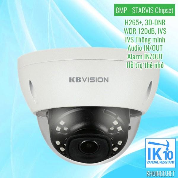 Cửa hàng bán Camera IP KBVision KX-8002iN 8MP uy tín tại TPHCM