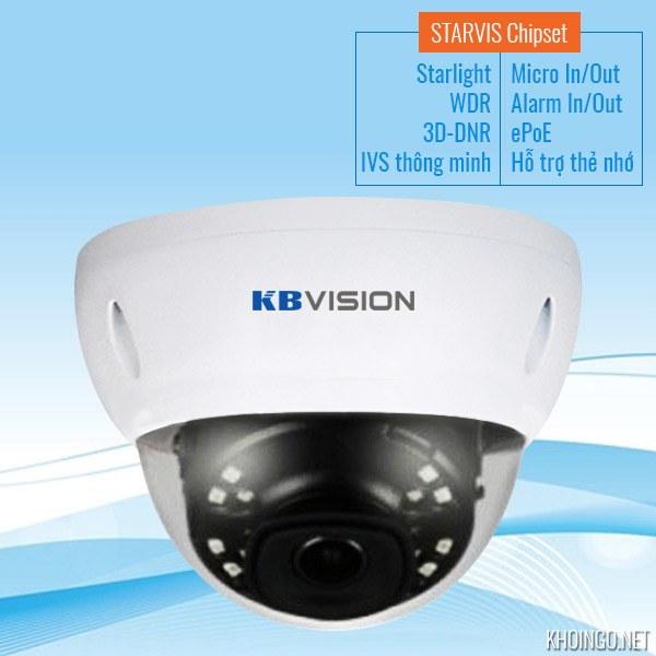 Đánh giá camera IP Starlight KBVision KX-2004iAN 2MP có tốt không