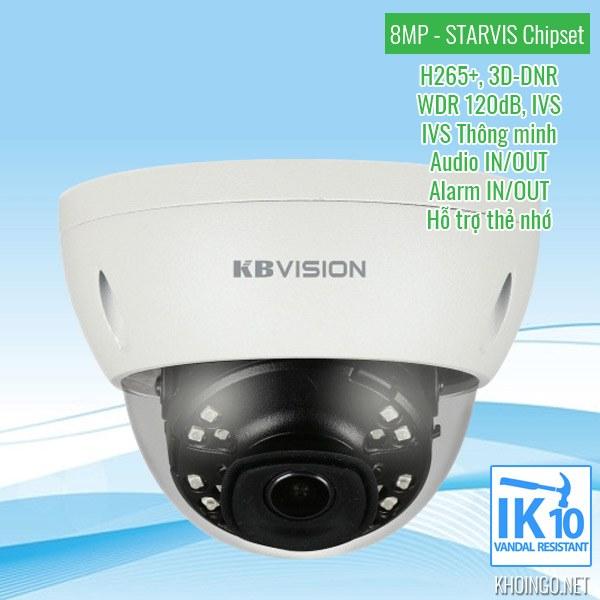 Đánh giá Camera IP KBVision KX-8002iN 8MP có tốt không