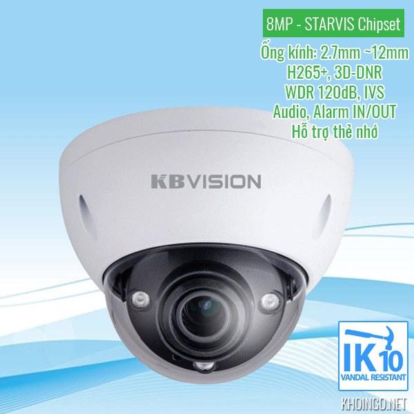 Đánh giá Camera IP KBVision KX-8004iMN 8MP có tốt không