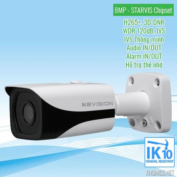 Đánh giá Camera IP KBVision 8005iN 8MP có tốt không