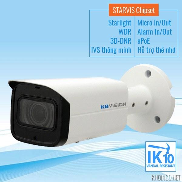 Đánh giá Camera IP KBVision KX-2003iAN STARVIS có tốt không