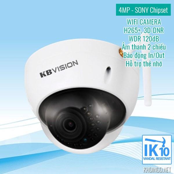 Đánh giá Camera IP Wifi KBVision KX-4002WAN 4MP có tốt không