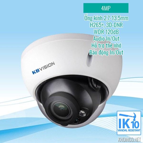 So sánh, đánh giá Camera IP KBVision KX-4004iMN 4MP có tốt không