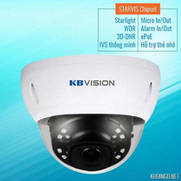 Gioi-thieu-Camera-IP-KBVision-KX-2004iAN-Full-HD-Starlight-WDR-3D-DNR-Smart-IR-STARVIS-Chipset