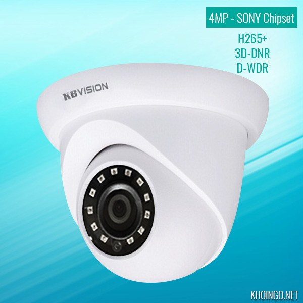Gioi thieu va danh gia Camera IP KBVision KX-4002N2 4MP H265 3D-DNR D-WDR Sony chipset