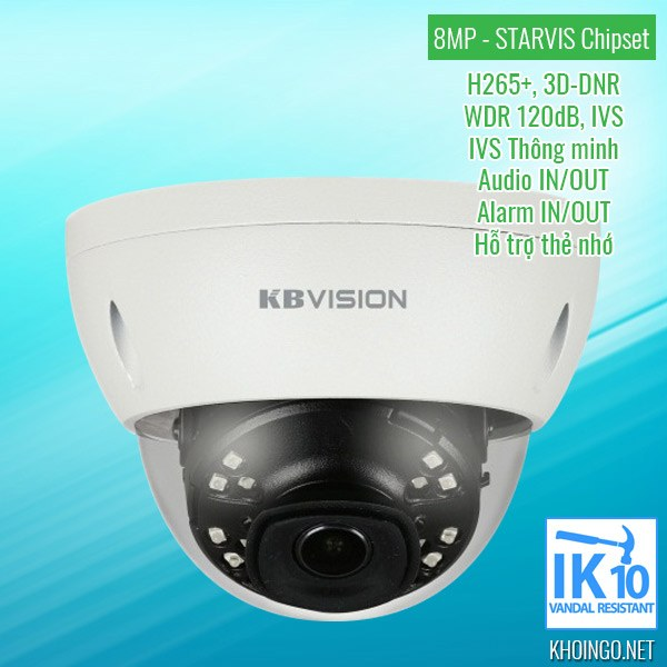 Giới thiệu Camera IP KBVision KX-8002iN 8MP