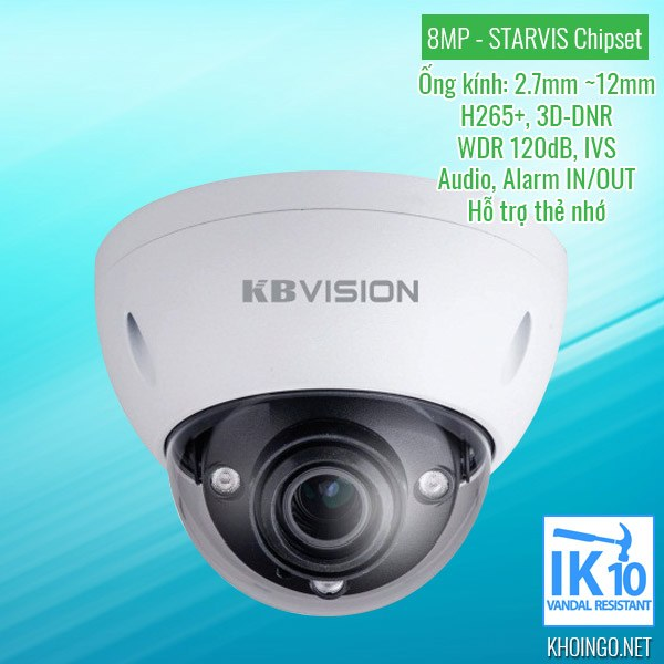 Gioi-thieu-Camera-IP-KBVision-KX-8004iMN-8MP-H265-WDR-3D-DNR-IK10-Alarm_in_out-Motorized_lens-Starvis_chipset