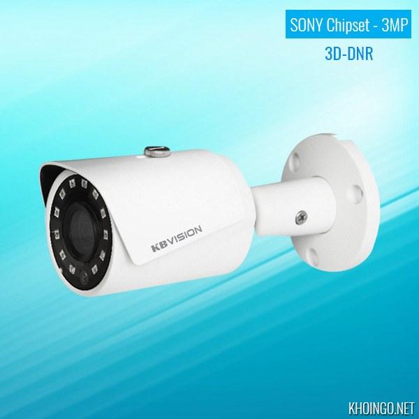 Giới thiệu Camera IP KBVision KX-3001N 3MP Sony Chipset