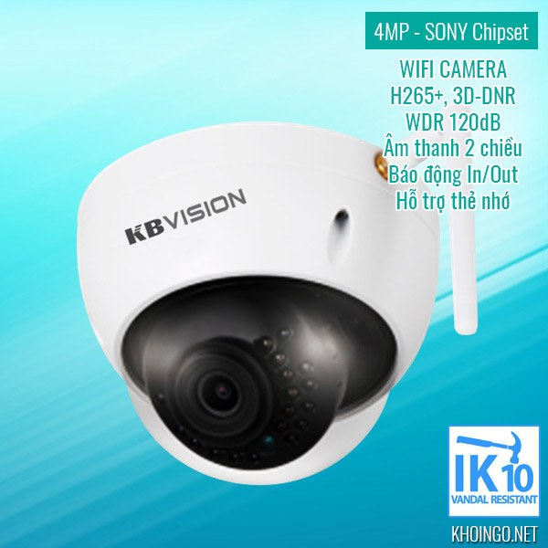 Giới thiệu Camera IP Wifi KBVision KX-4002WAN 4MP