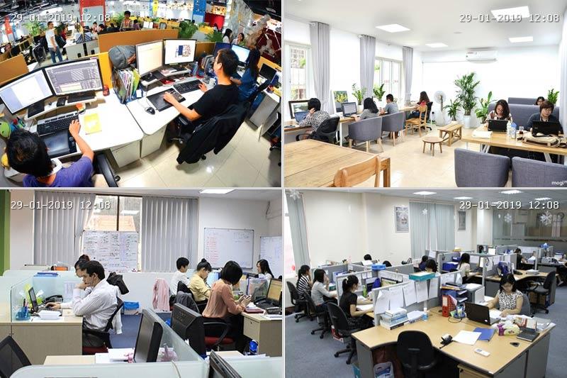 Hình ảnh thi công IP Camera KBVision KX-4002iAN 4MP cho văn phòng