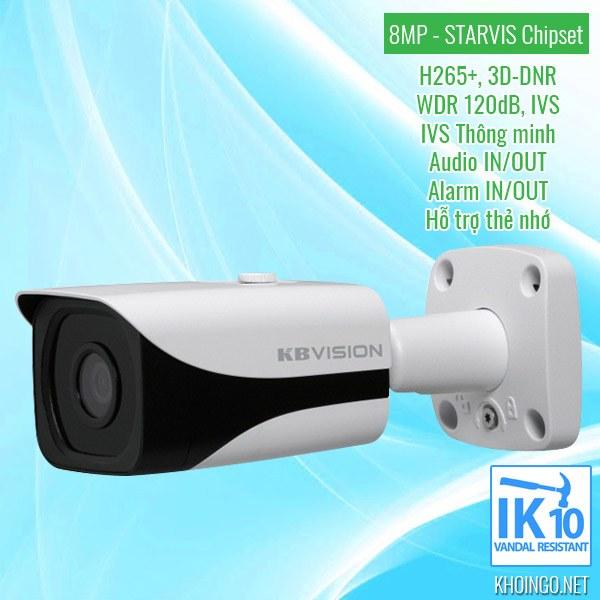 Nơi bán Camera IP KBVision 8005iN 8MP giá rẻ nhất tại TPHCM