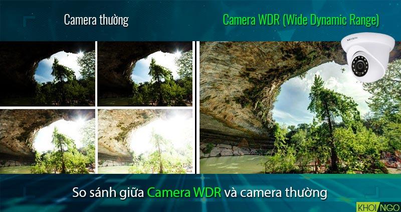 Phân biệt IP Camera KBVision KX-4002N2 4MP công nghệ Digital WDR
