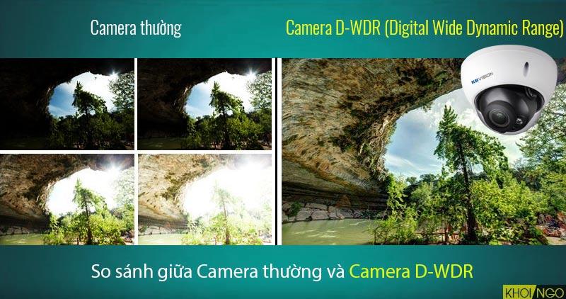 So sánh Camera IP KBVision KX-3004AN công nghệ D-WDR với camera khác