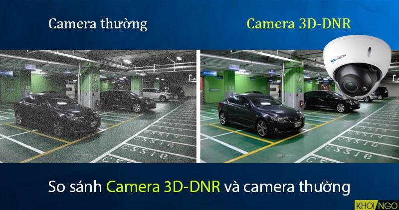 So sánh Camera IP KBVision KX-3004AN công nghệ 3D-DNR với camera khác