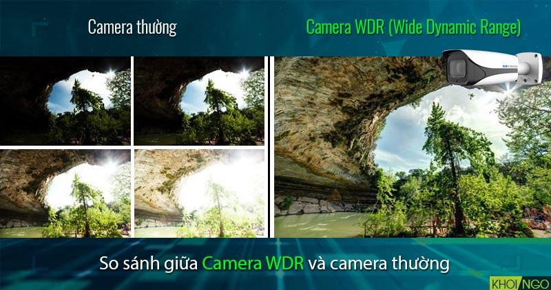 So sánh IP Camera KX-4005iMN 4MP chống ngược sáng WDR 120dB