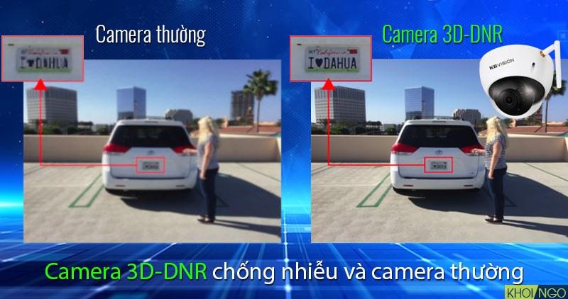 So sánh IP Camera Wifi 4MP KBVision KX-4002WAN chống nhiễu 3D-DNR