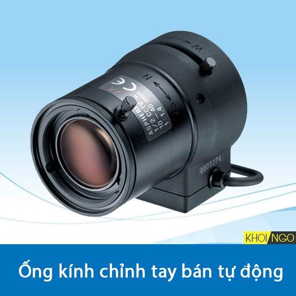 Manual Varifocal Loại 02 (ống kính chỉnh tay bán tự động)