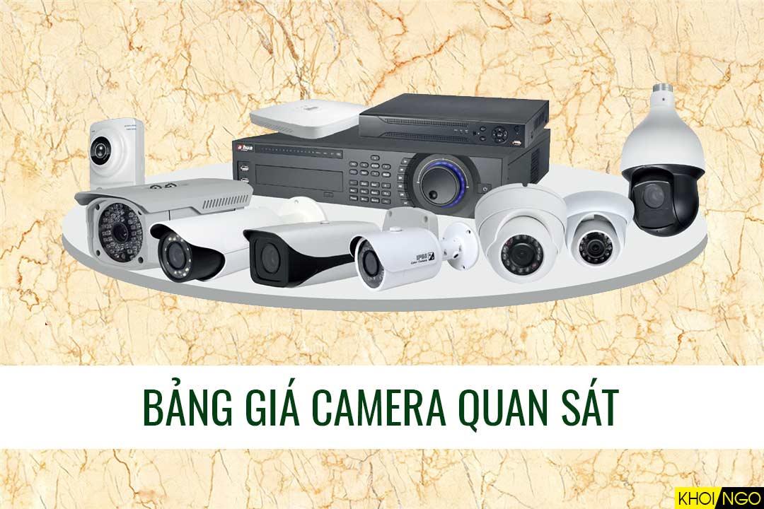 Bảng giá camera quan sát