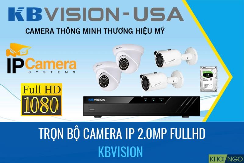 Bảng giá Camera IP Full HD 2.0 trọn bộ
