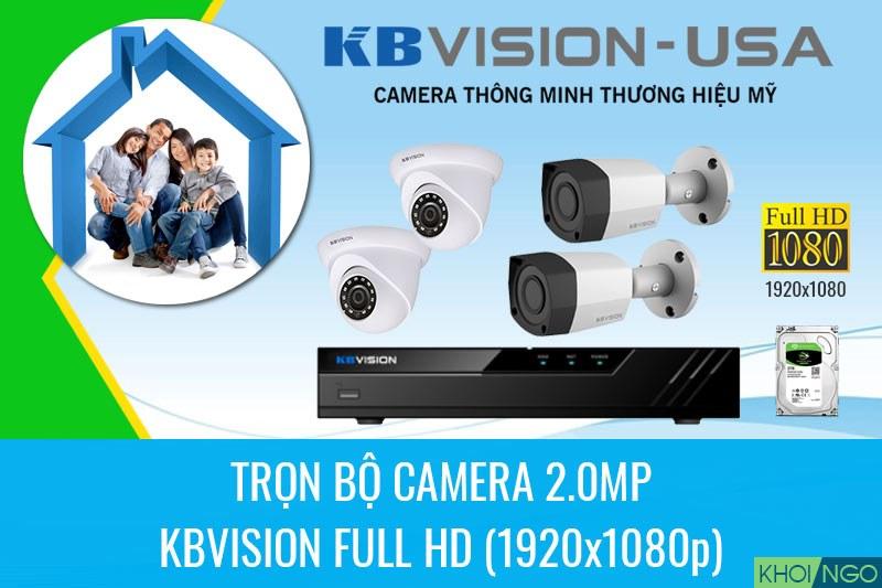 Bảng giá camera KBVision Full HD 2MP trọn bộ