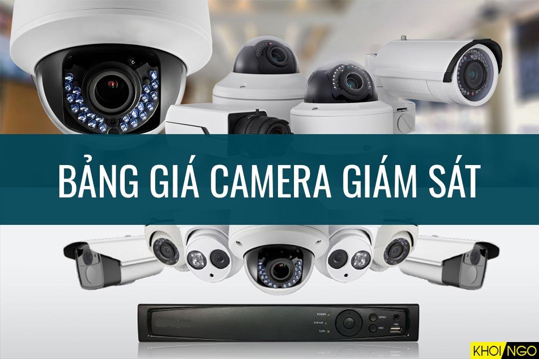 Bảng giá camera giám sát